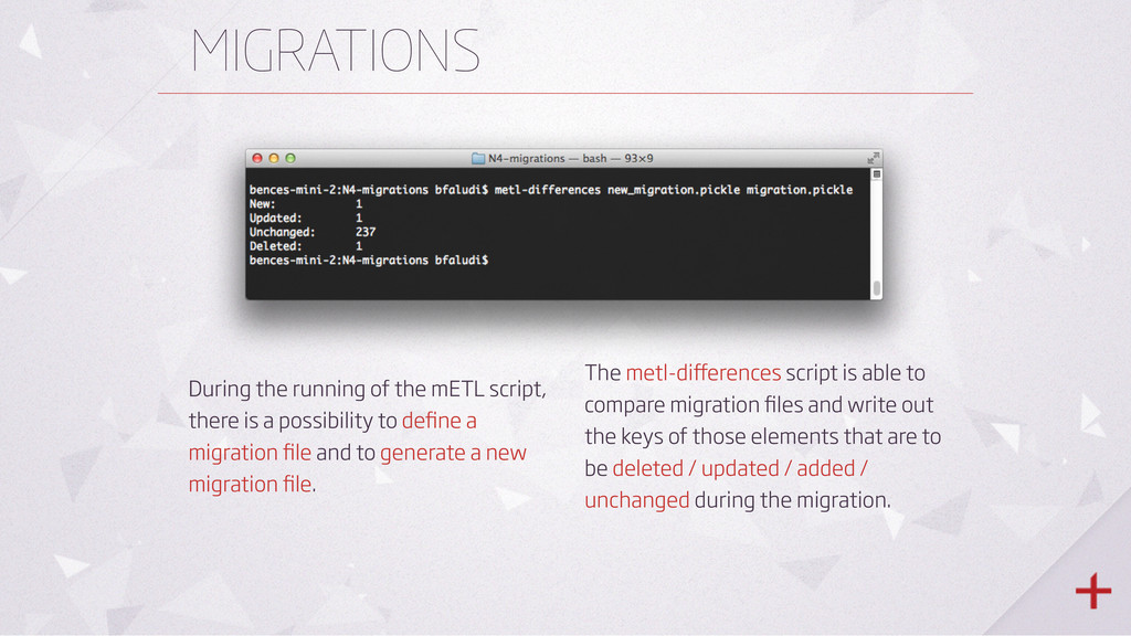 MIGRATIONS During the running of the mETL scrip...