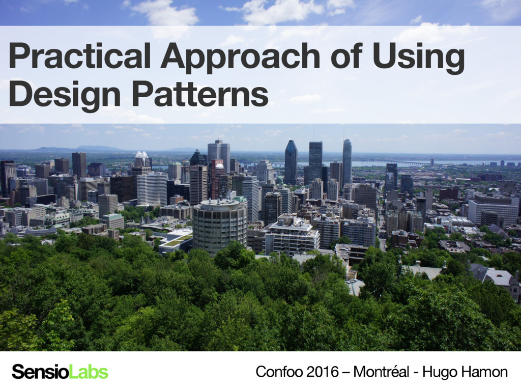 Practical Approach of Using Design Patterns Co...