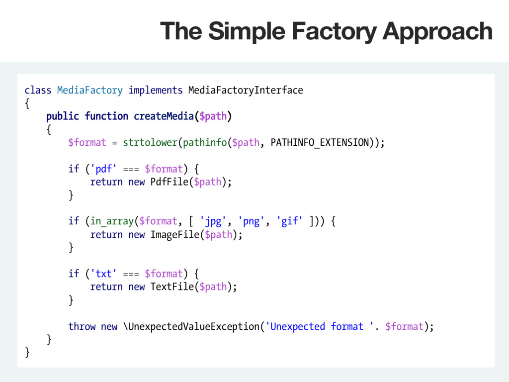 class MediaFactory implements MediaFactoryInter...