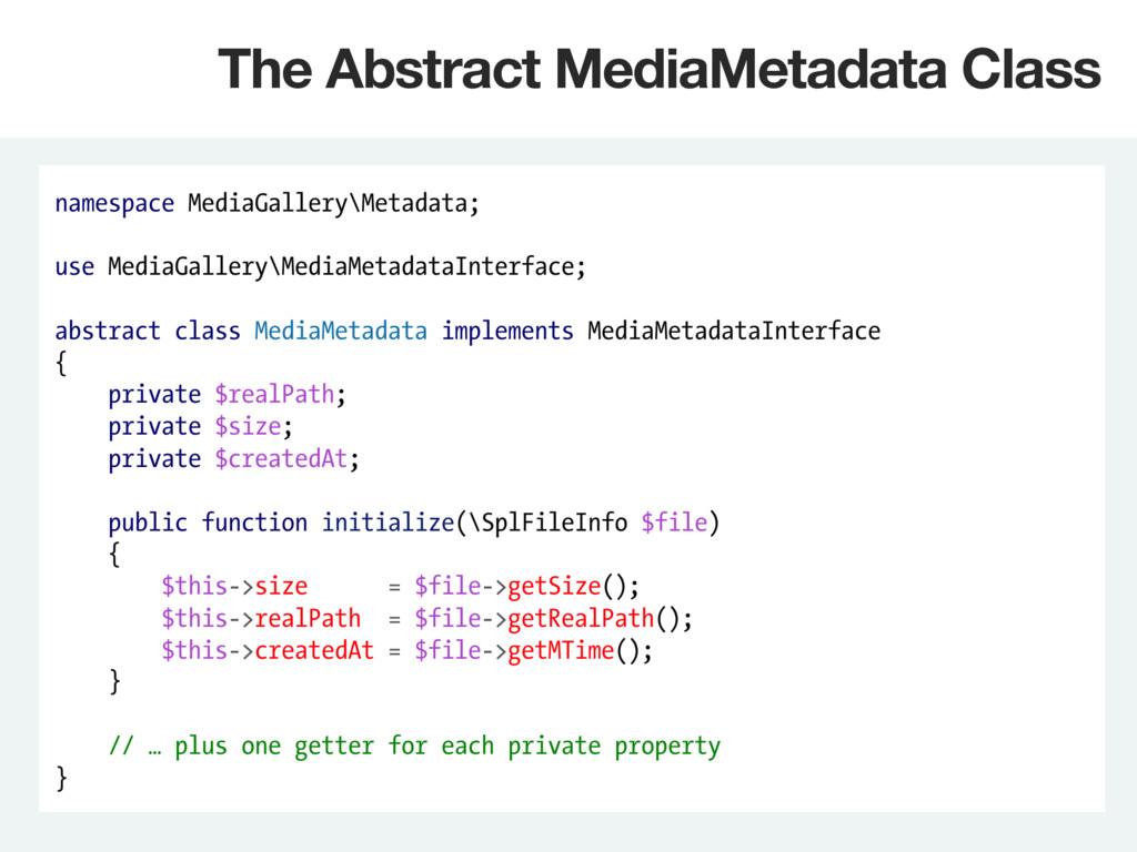 namespace MediaGallery\Metadata; use MediaGalle...