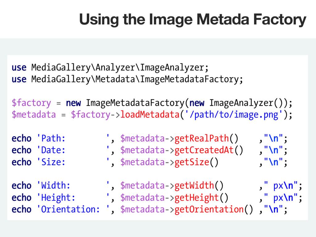 use MediaGallery\Analyzer\ImageAnalyzer; use Me...