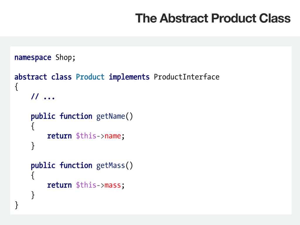 namespace Shop; abstract class Product implemen...