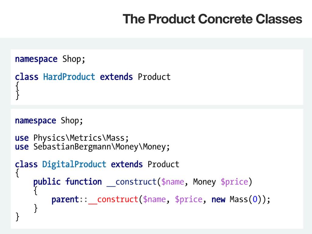 namespace Shop; class HardProduct extends Produ...