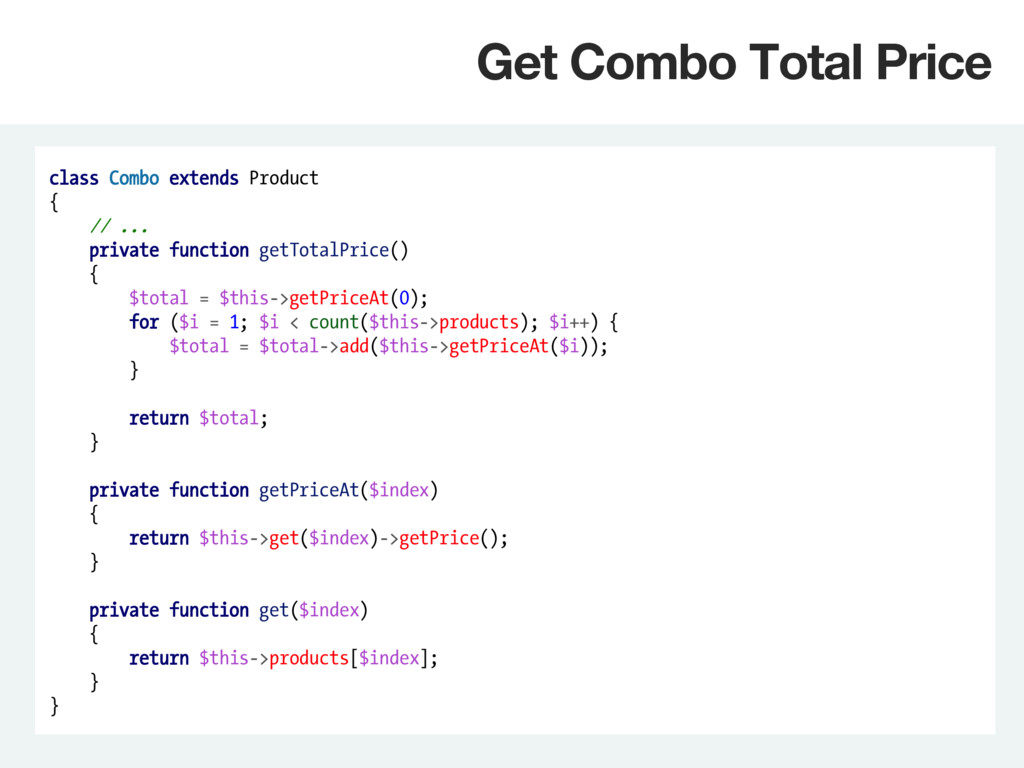 class Combo extends Product { // ... private fu...