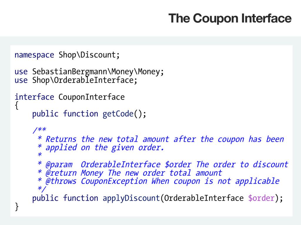 namespace Shop\Discount; use SebastianBergmann\...