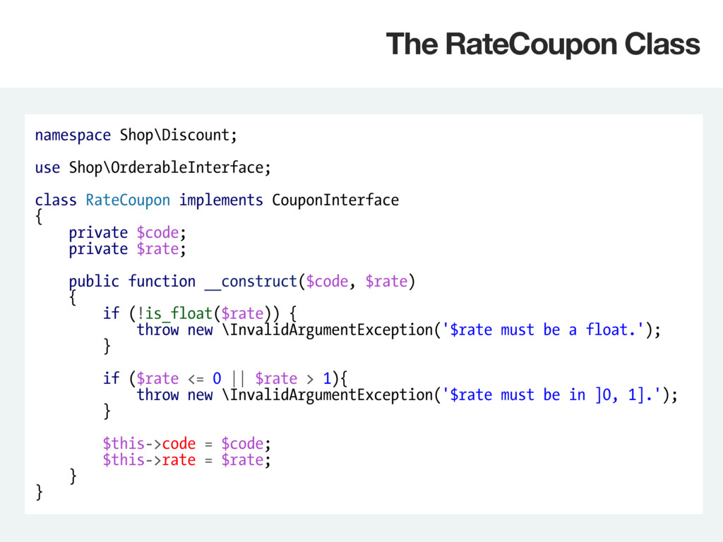 namespace Shop\Discount; use Shop\OrderableInte...