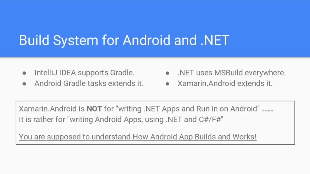 Build System for Android and .NET ● IntelliJ ID...