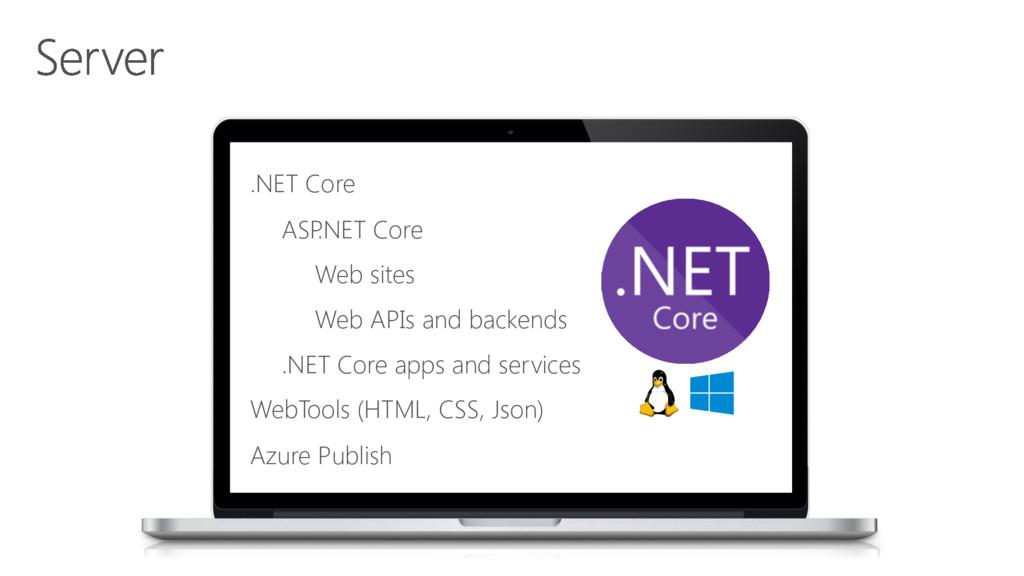 .NET Core ASP .NET Core Web sites Web APIs and ...