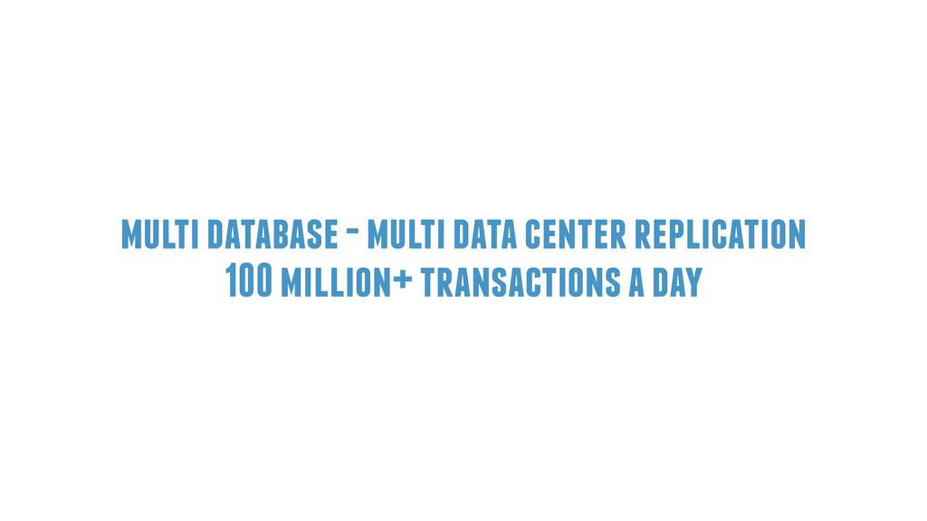multi database - multi data center replication ...