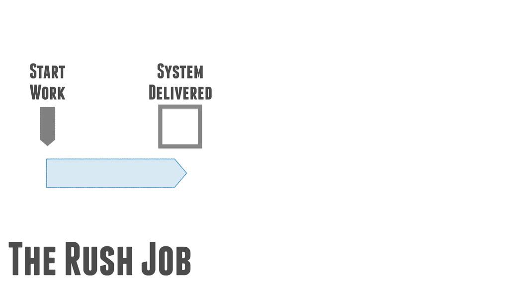 Start Work System Delivered The Rush Job