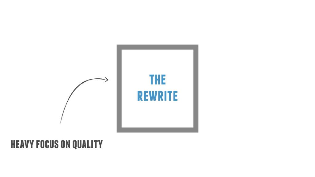 the rewrite heavy focus on quality