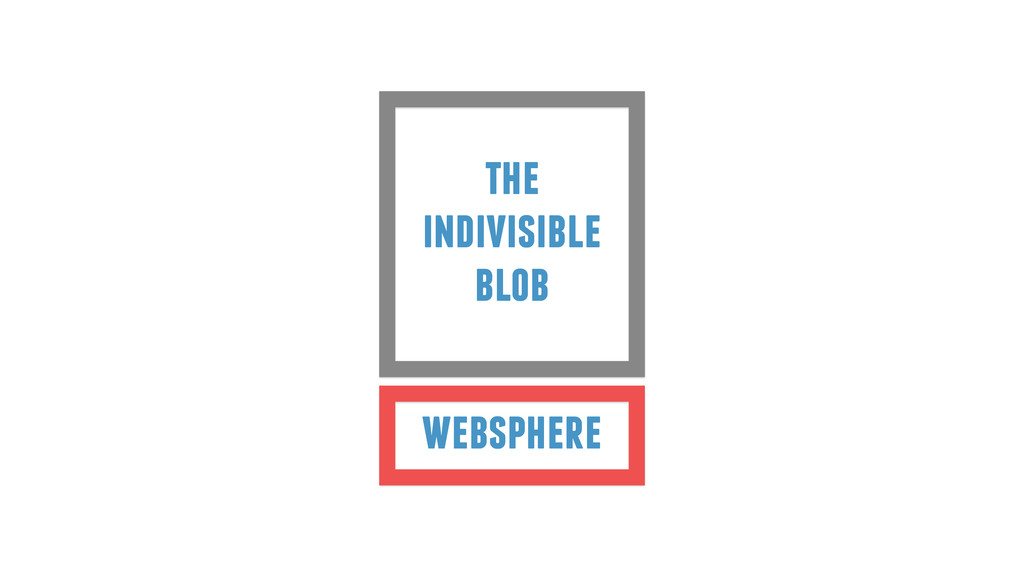 websphere the indivisible blob