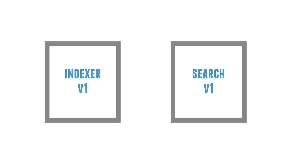 indexer v1 search v1