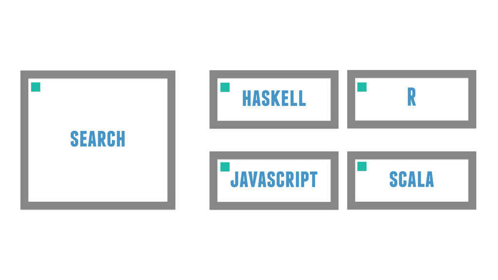 R scala haskell javascript search