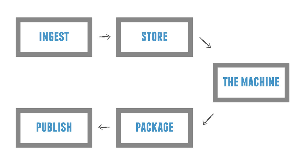 ingest store the machine package publish