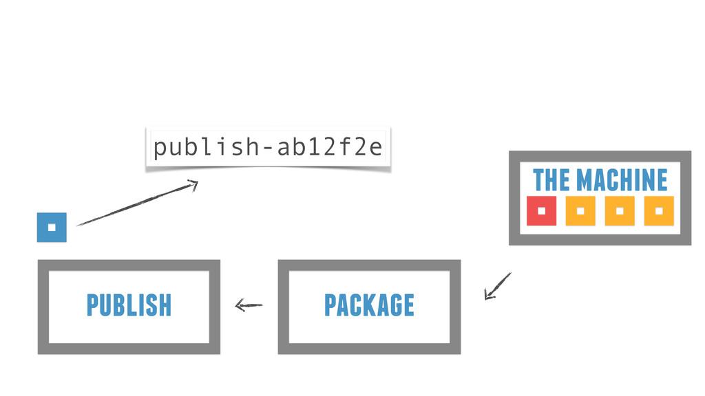 package publish the machine publish-ab12f2e