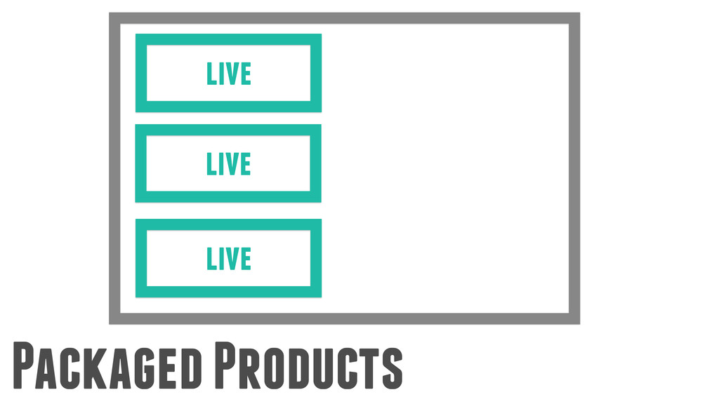 Packaged Products live live live