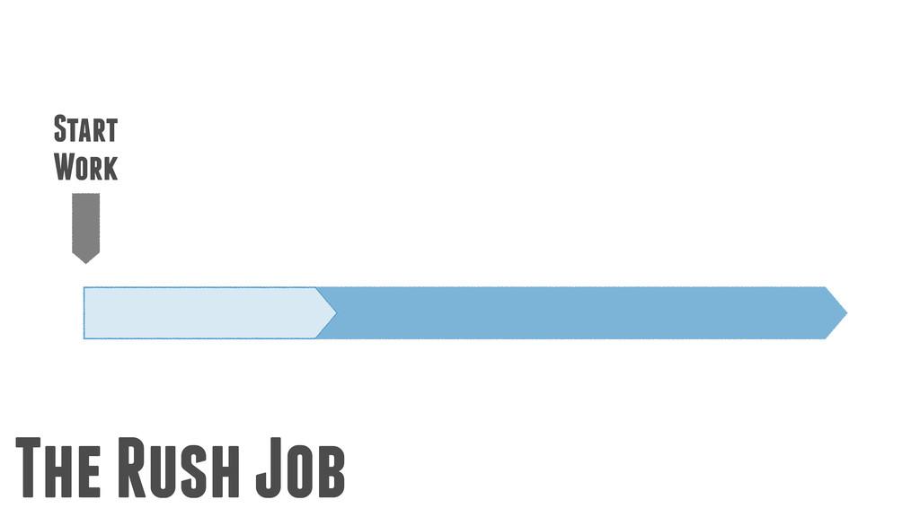 The Rush Job Start Work
