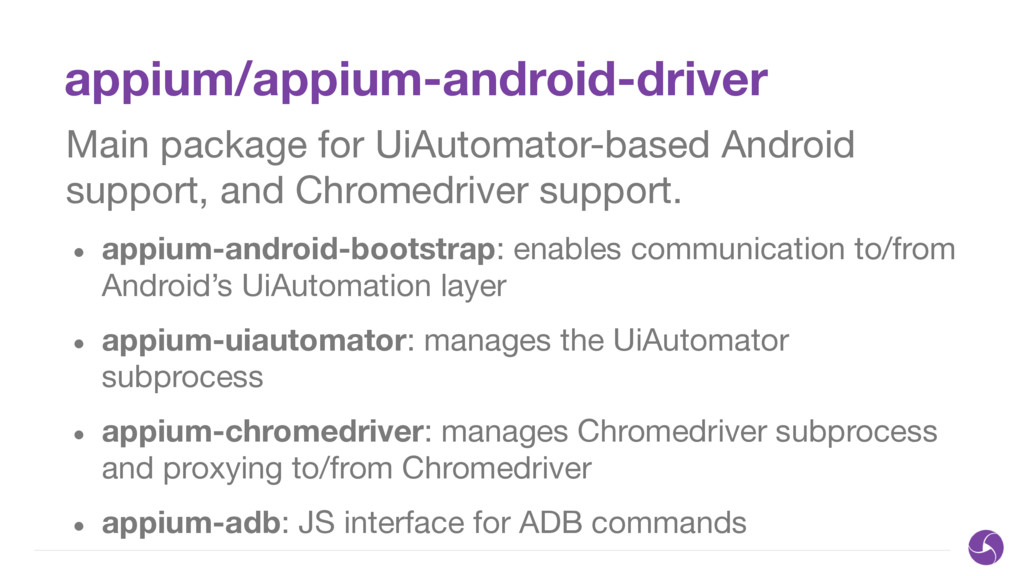 appium/appium-android-driver Main package for U...
