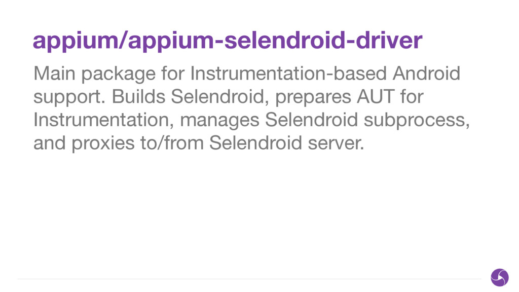 appium/appium-selendroid-driver Main package fo...