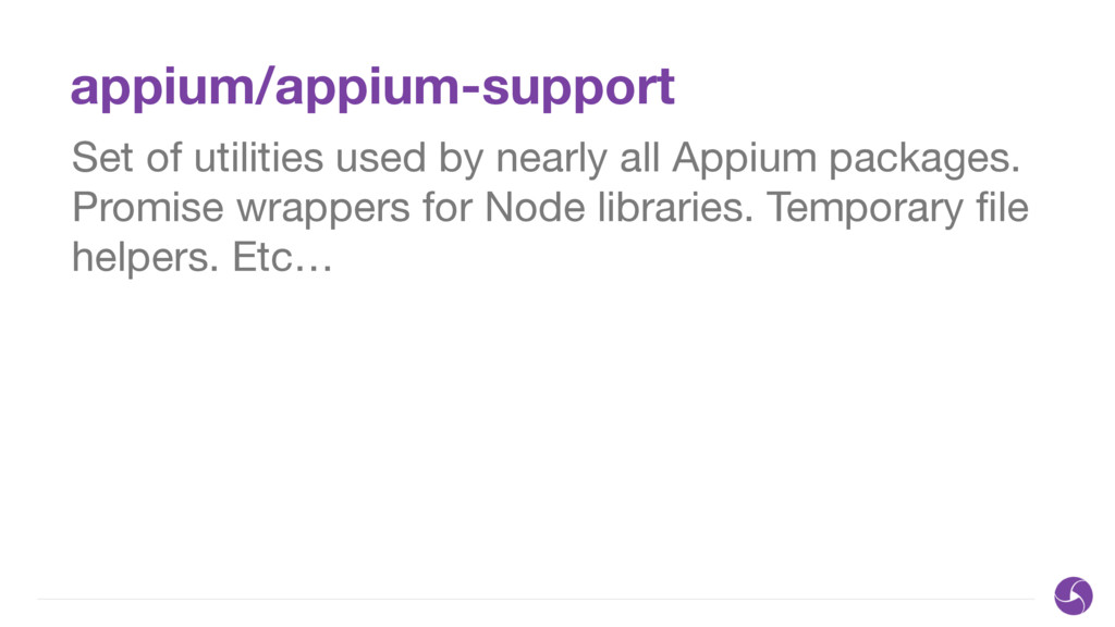 appium/appium-support Set of utilities used by ...