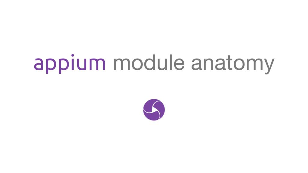 appium module anatomy