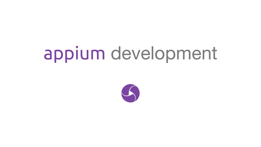 appium development