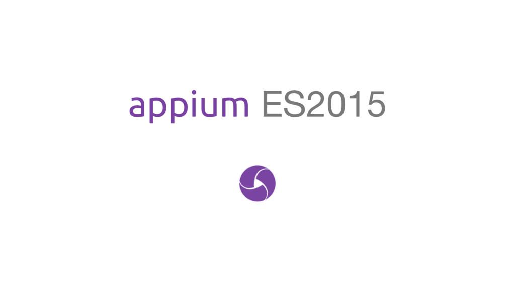 appium ES2015