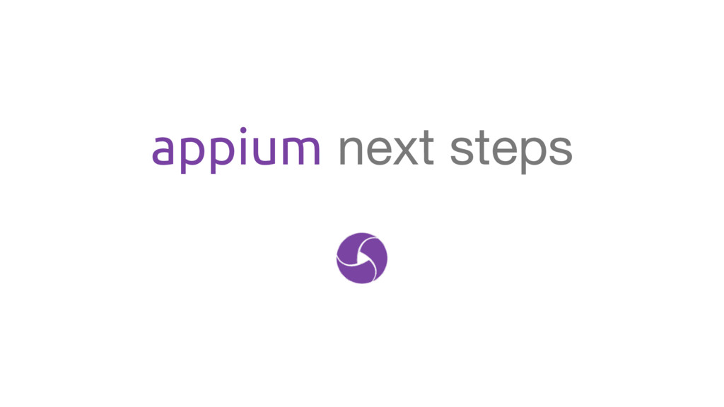 appium next steps