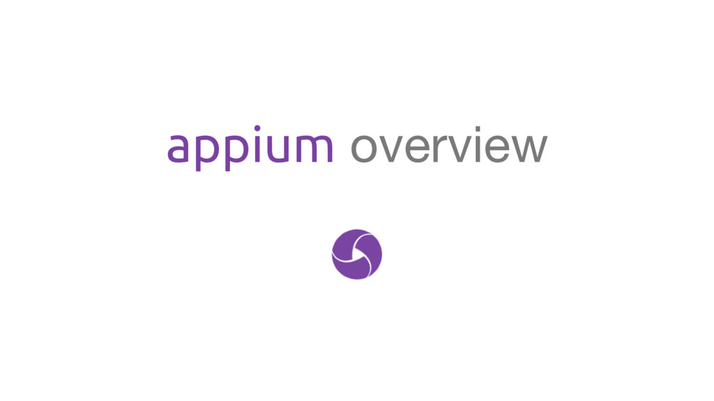 appium overview