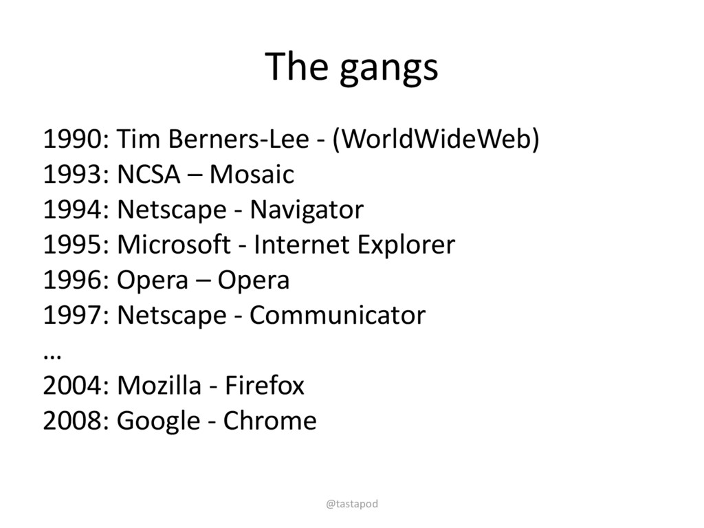 The gangs 1990: Tim Berners-Lee - (WorldWideWeb...