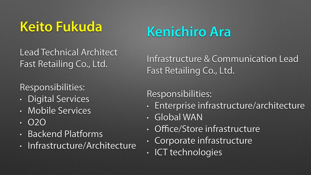 Keito Fukuda Lead Technical Architect Fast Reta...