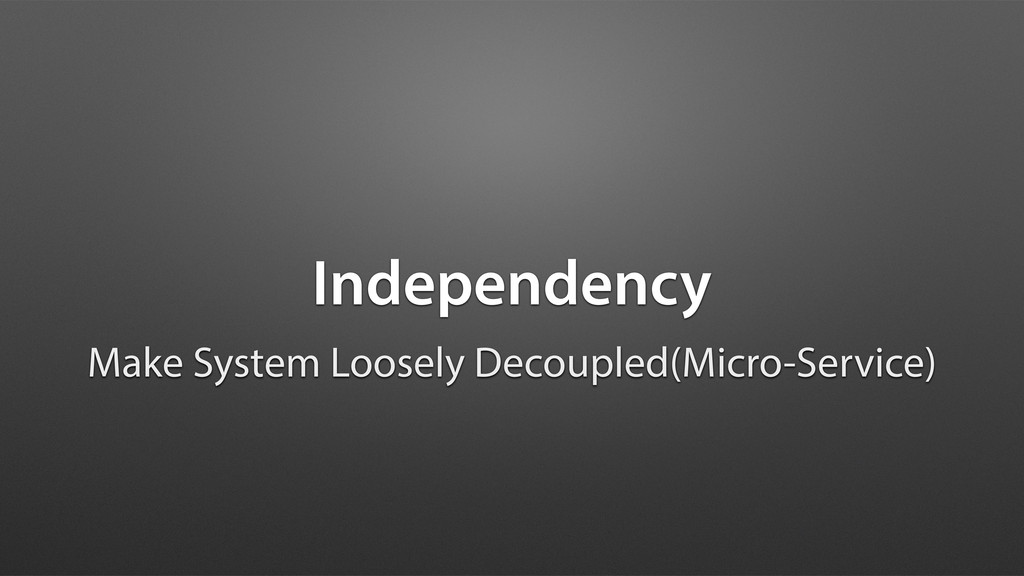 Independency Make System Loosely Decoupled(Micr...