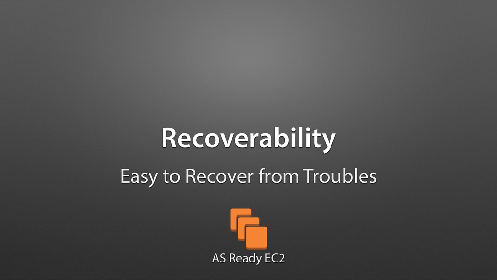 Recoverability Easy to Recover from Troubles AS...