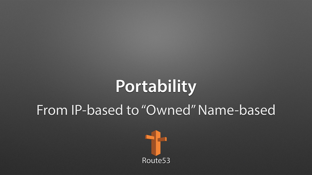 """Portability From IP-based to """"Owned"""" Name-based..."""