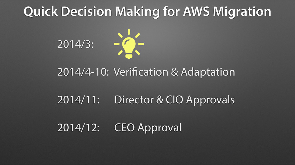 Quick Decision Making for AWS Migration 2014/3:...