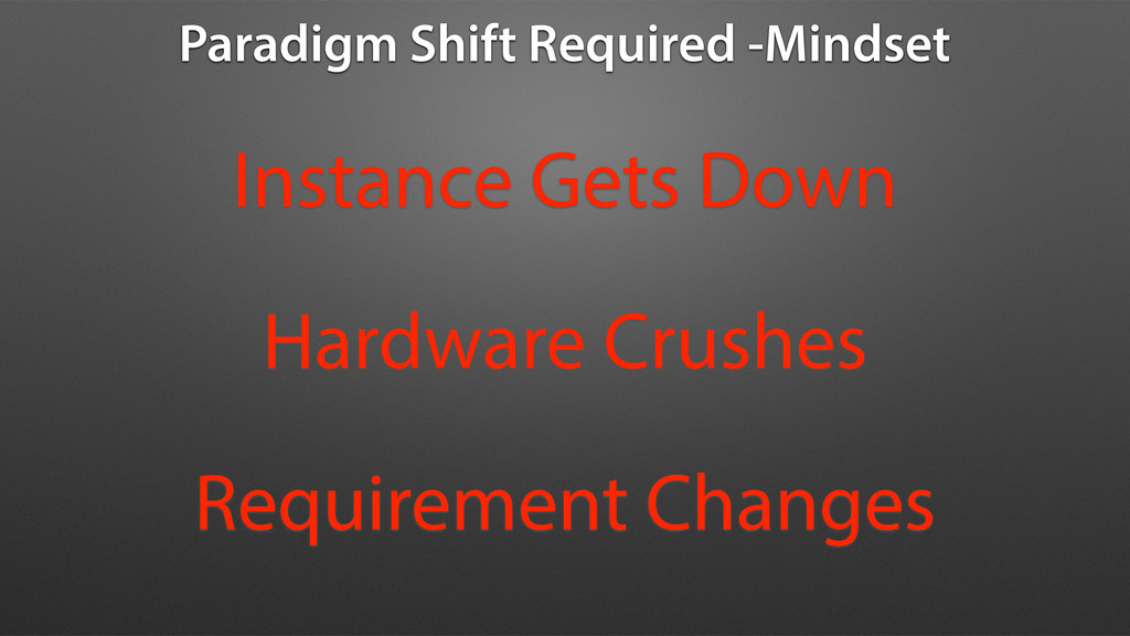 Paradigm Shift Required -Mindset Instance Gets ...