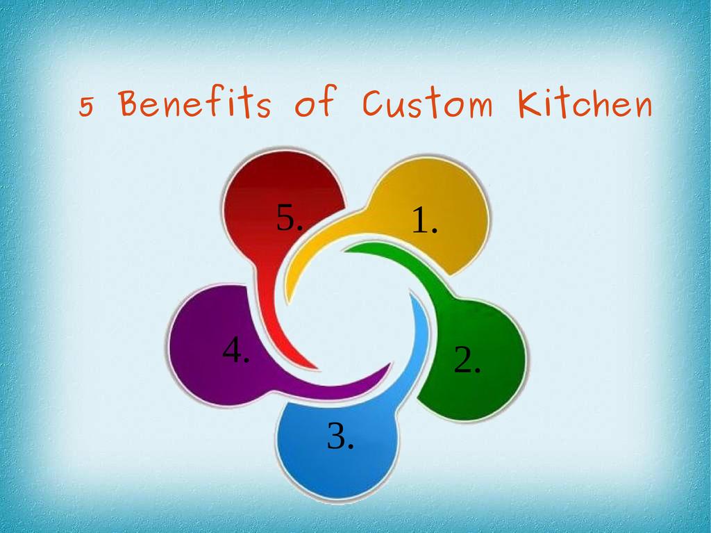5 Benefits of Custom Kitchen 1. 2. 3. 5. 4.