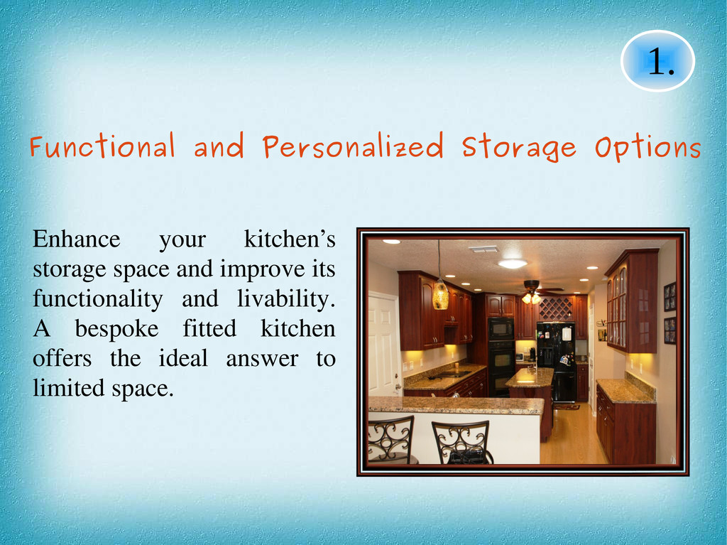 1. Functional and Personalized Storage Options ...