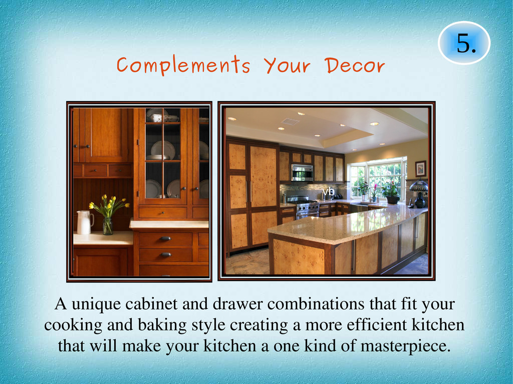 A unique cabinet and drawer combinations that f...