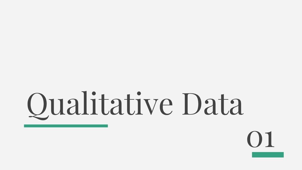 Qualitative Data 01