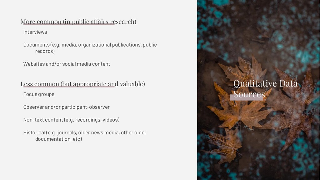 Interviews Documents (e.g. media, organizationa...