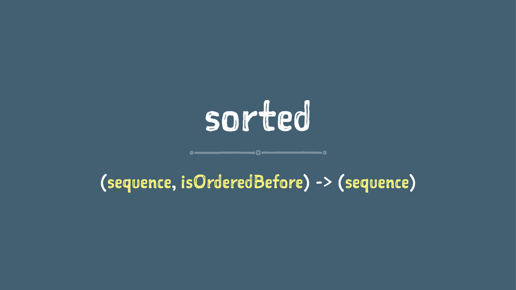 sorted (sequence, isOrderedBefore) -> (sequence)