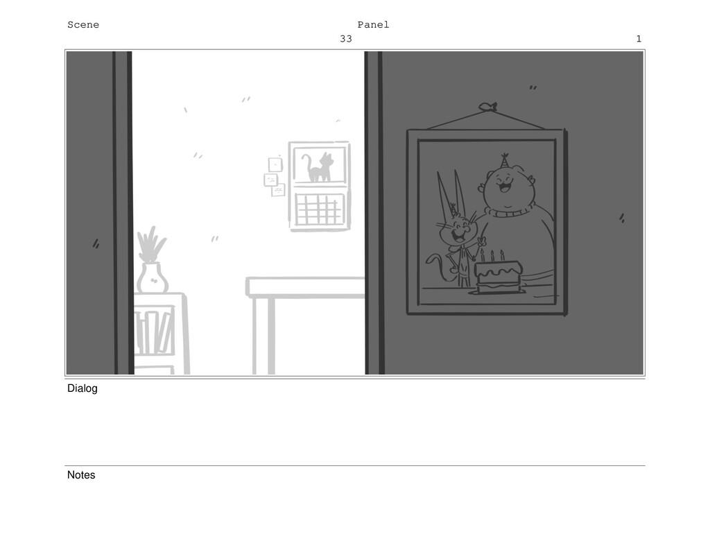 Scene 33 Panel 1 Dialog Notes