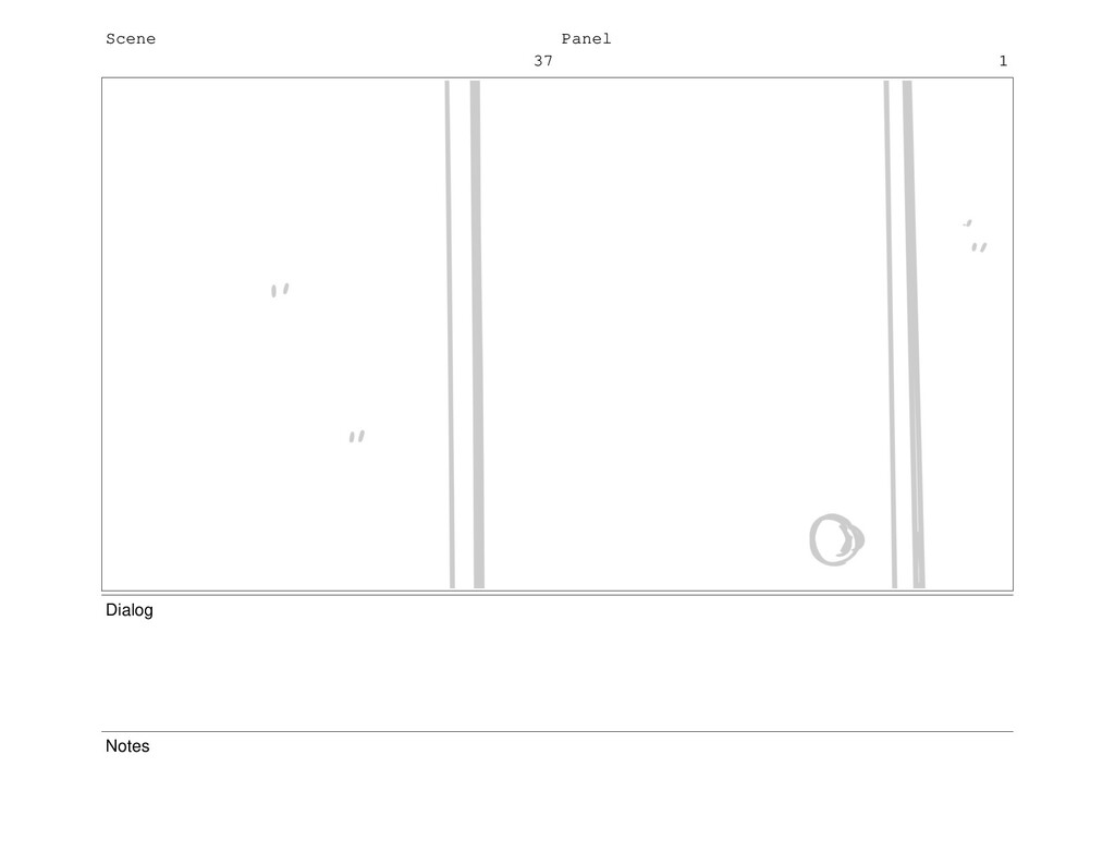 Scene 37 Panel 1 Dialog Notes