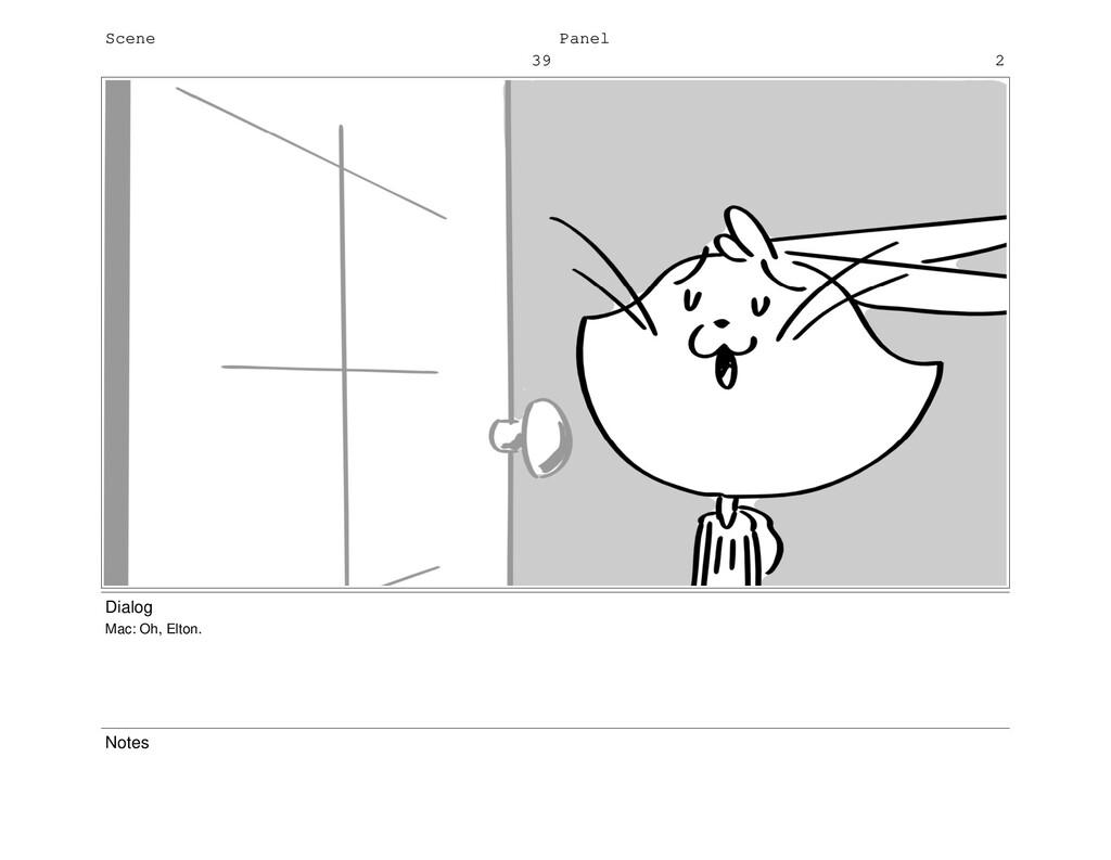 Scene 39 Panel 2 Dialog Mac: Oh, Elton. Notes