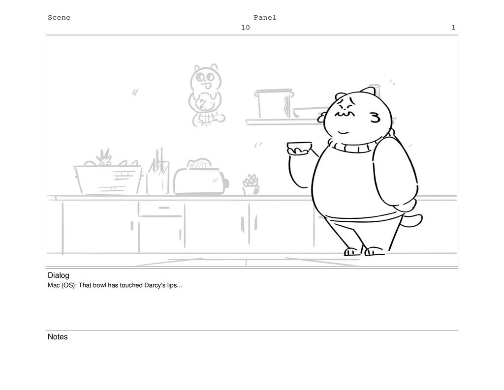 Scene 10 Panel 1 Dialog Mac (OS): That bowl has...