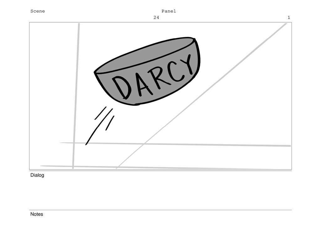 Scene 24 Panel 1 Dialog Notes