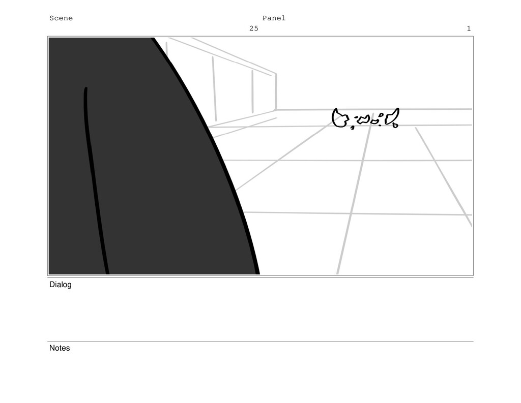 Scene 25 Panel 1 Dialog Notes