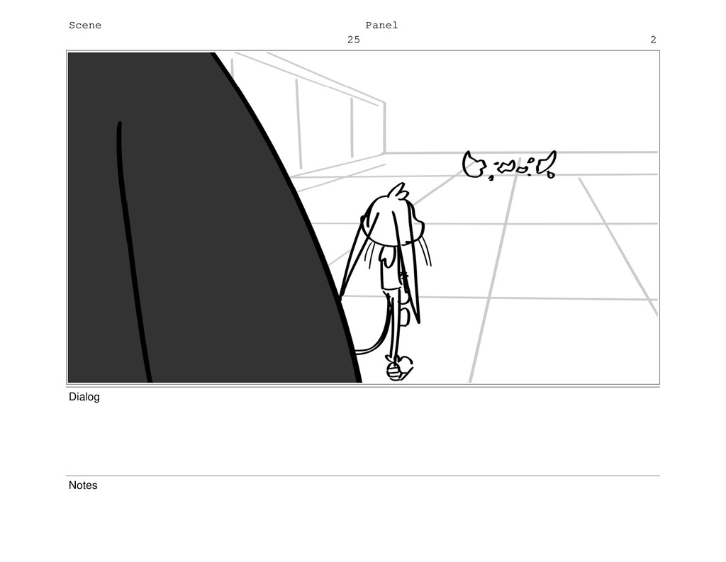 Scene 25 Panel 2 Dialog Notes